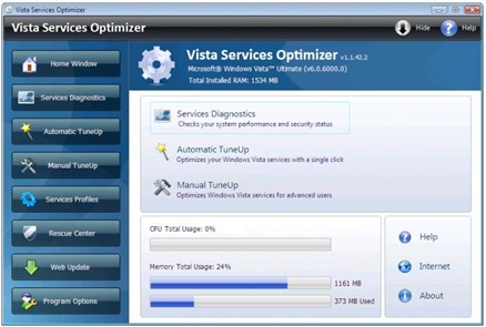 vista services optimizer