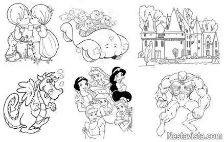 dibujos para pintar. dibujos para colorear