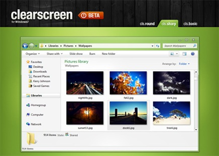 clear-screen-beautiful-desktop-theme