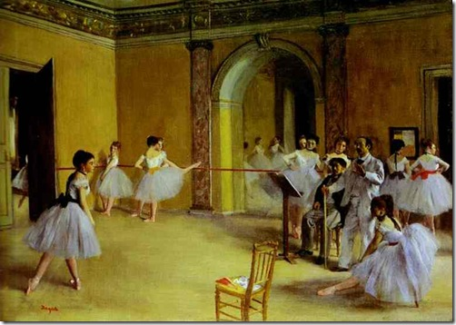 Edgar Degas - Ballet Rehearsal on the Set