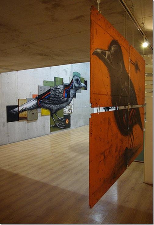 ROA-solo show Paris-Galerie Itinerrance