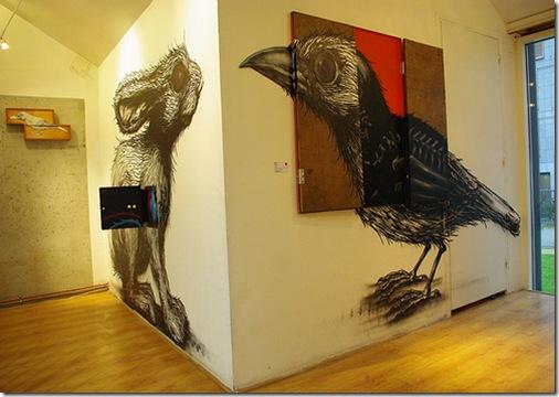 ROA-solo show Paris-Galerie Itinerrance7