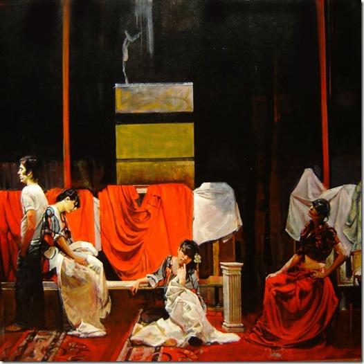Tres mujeres y un varon