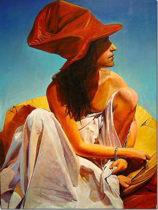 La mujer del sombrero rojo