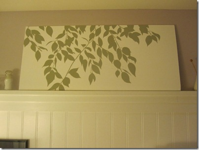 final-leaves-painting-in-bathroom