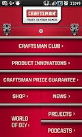 Screenshot of Craftsman Tools and DIY App