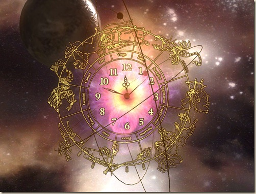 3D_Space_Clock_ScreenSaver-screenshot