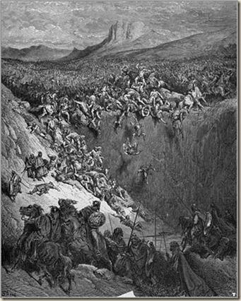 Gustavo Doré - Sansón destruyendo a los filisteos