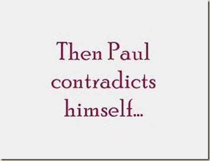 contradiccion pablo ateismo