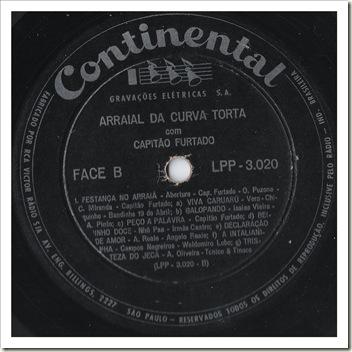 Selo Face B (1958 - Capitão Furtado - Arraial da Curva Torta)