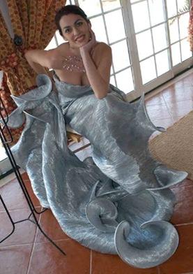Vestidos de noiva de Cristina Lopes vestido de casamento noivas prateado - Estilistas criadores de moda portuguses - casar em Portugal 2010 2011