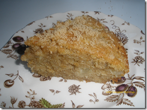 country apple cake sliced