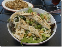 Red leaf and chick salad 2