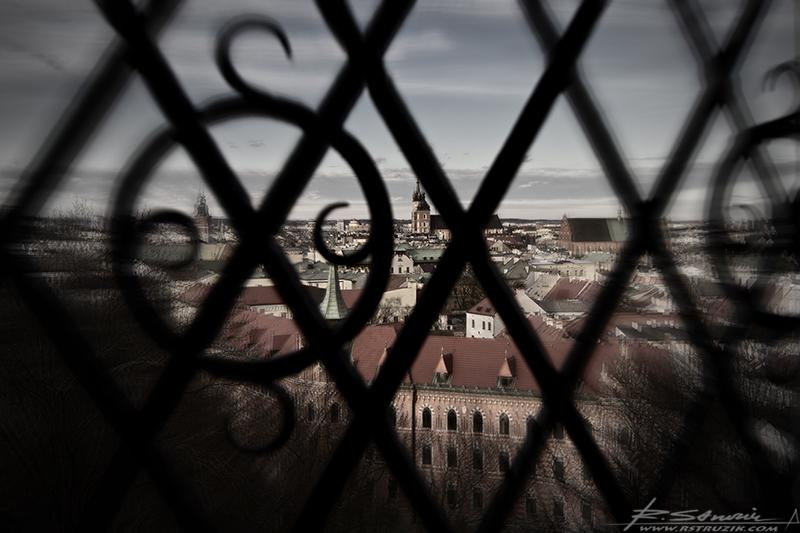 Kraków, Wawel. Widok na Stare Miasto.
