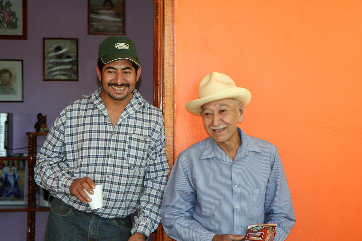 Victor and Miguel are farmer members of the Huatusco Coop and son and father.