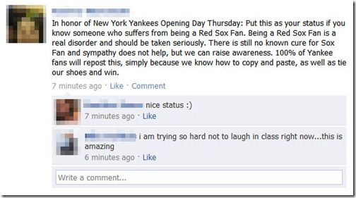Facebook Yankee Fan