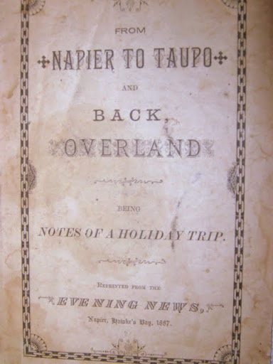 Front Cover of 1887 book Napier to Taupor