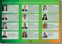 candidatos psd legislativas 2011