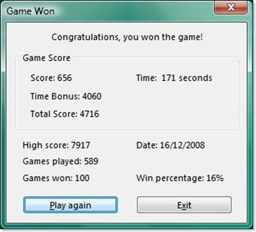 100 game won