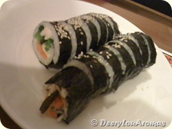 Rice wrapped in seaweed