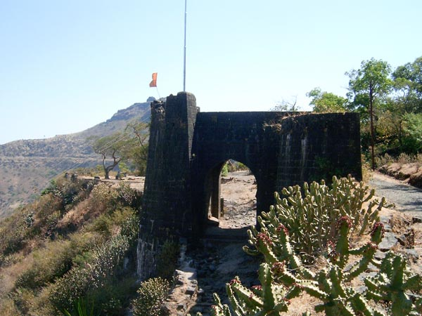 Gate to Purandar on halfway