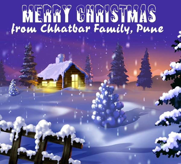 Christmas Greetings from Chhatbar Family, Pune
