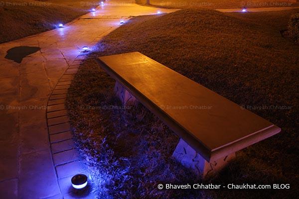Mayur Vatika of Jaipur - Night Ambience