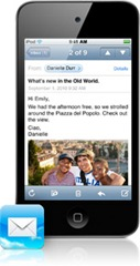 mail  ipod touch 4G IOS 4.2
