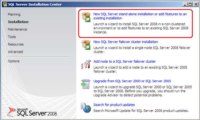 Luis rochas blog upgrading to sql server 2008 express and in the sql server 2008 setup installation type screen select add features to an existing instance of sql server 2008 and click on next sciox Gallery
