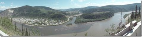 20100527-94 Panorama Dawson City, Klondike River entering Yukon River