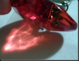 Glass Heart Glowing Shadow