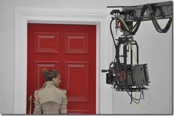 Red Door with Model