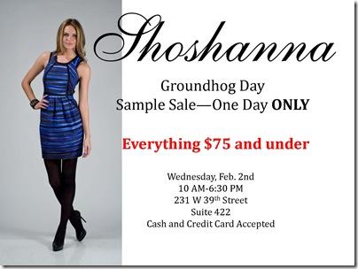 Shoshanna Sample Sale - February 2, 2011