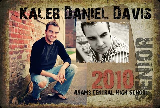 Kaleb Davis 2010 Grad Card Front