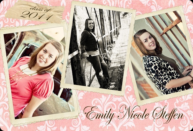 2011 Grad Announcement Emily Stefen 1 final
