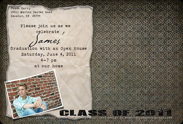 2011 Grad Card James Harry back copy