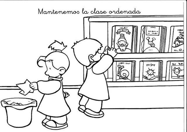 DIBUJOS DE BUENAS COSTUMBRES PARA NIÑOS