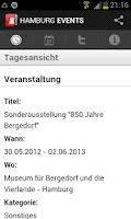 Screenshot of HAMBURG EVENTS › Eventguide