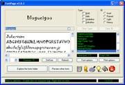 tela do programa visualizador de fontes fontpage