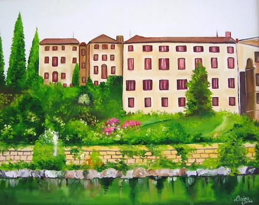 Tela com a paisagem de Bassano del Grappa