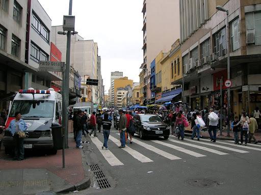 Vista da Rua 25 de Março, em São Paulo