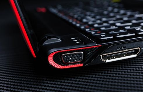 Notebook da Acer com a marca Ferrari