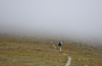 Walking through clouds