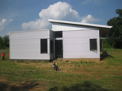 playing hooky in our zero energy off grid prefab house kit