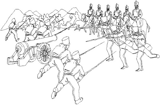 Dibujos para colorear de la serie DIBUJOS DE BATALLAS PARA COLOREAR