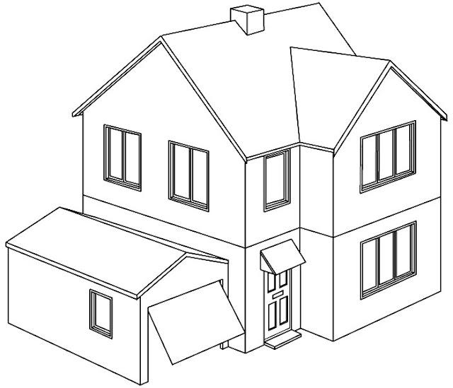 Dibujos de casas para imprimir y colorear - Imagenes de casas para dibujar ...