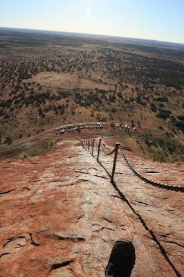 The rock climb Uluru