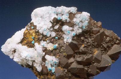 Auricalcita y cuarzo-Aurichalcite & quartz