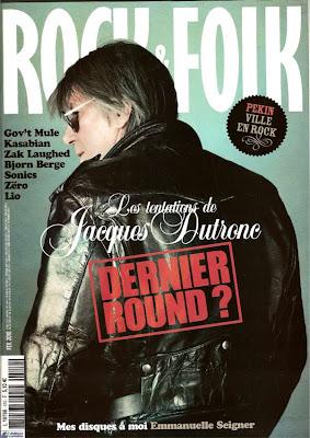 Jacques Dutronc en couverture de Rock & Folk en février 2010
