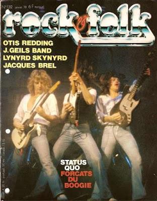 Status Quo en couverture de Rock & Folk en 1978